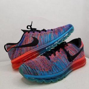 500af628a5 Nike Airmax Flyknit Blue Lagoon Crimson Woven Shoe